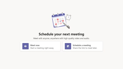 Schedule a meeting microsoft teams