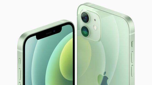 apple iphone 12 против android зеленый