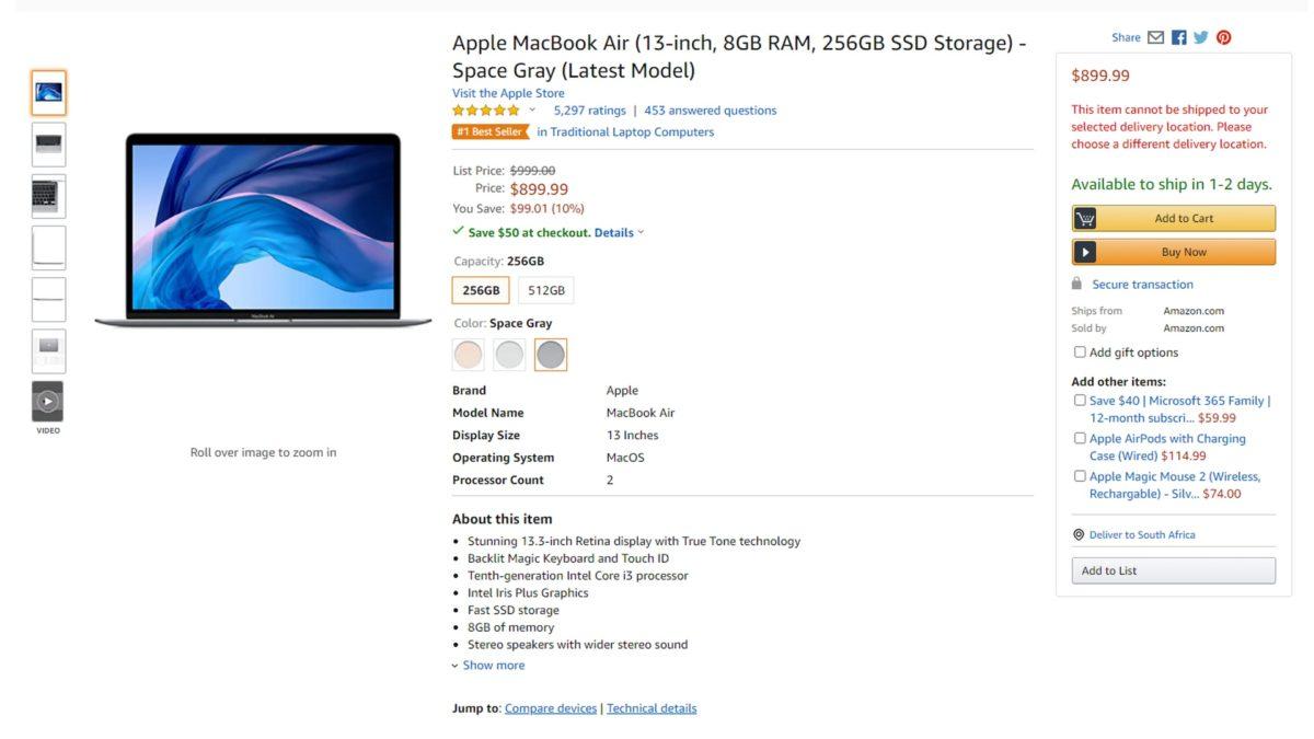 apple macbook air prime day deal