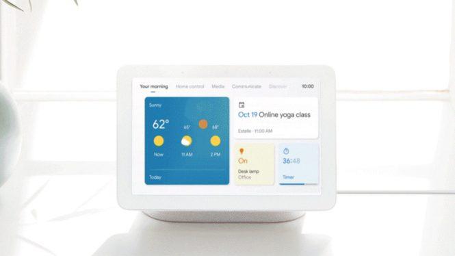 google nest hub max smart display interface update