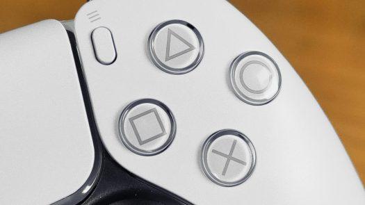 PlayStation 5 DualSense Controller Closeup of Buttons