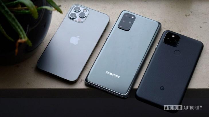Samsung Galaxy S20 Plus vs Apple iPhone 12 Pro vs Google Pixel 5 EOY 2020