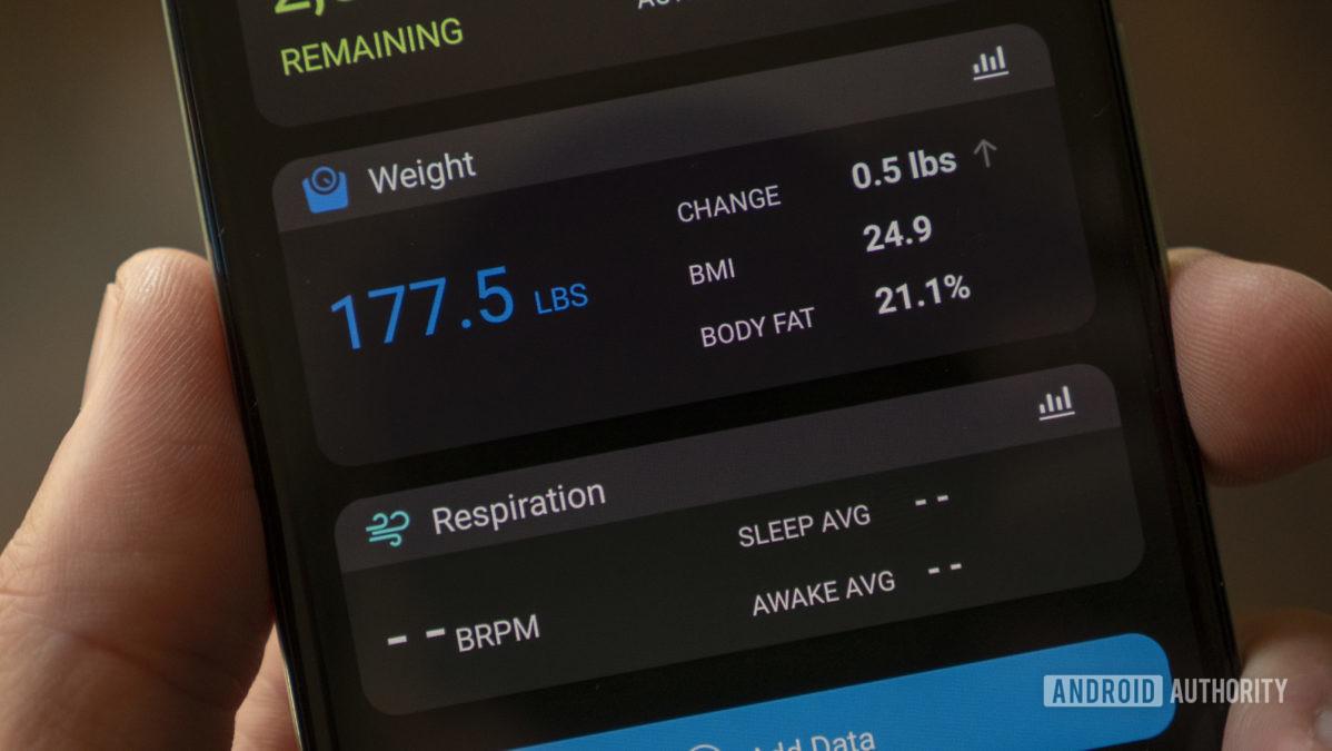 garmin index s2 smart scale review garmin connect weight widget home screen