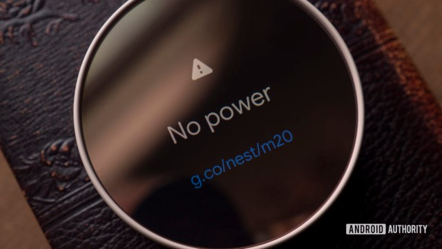 google nest thermostat review display no power