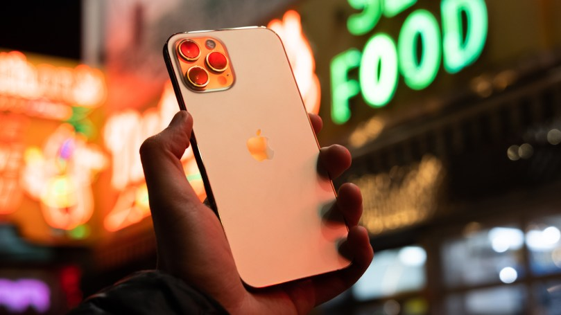 iPhone 12 Pro Max back with neon 1
