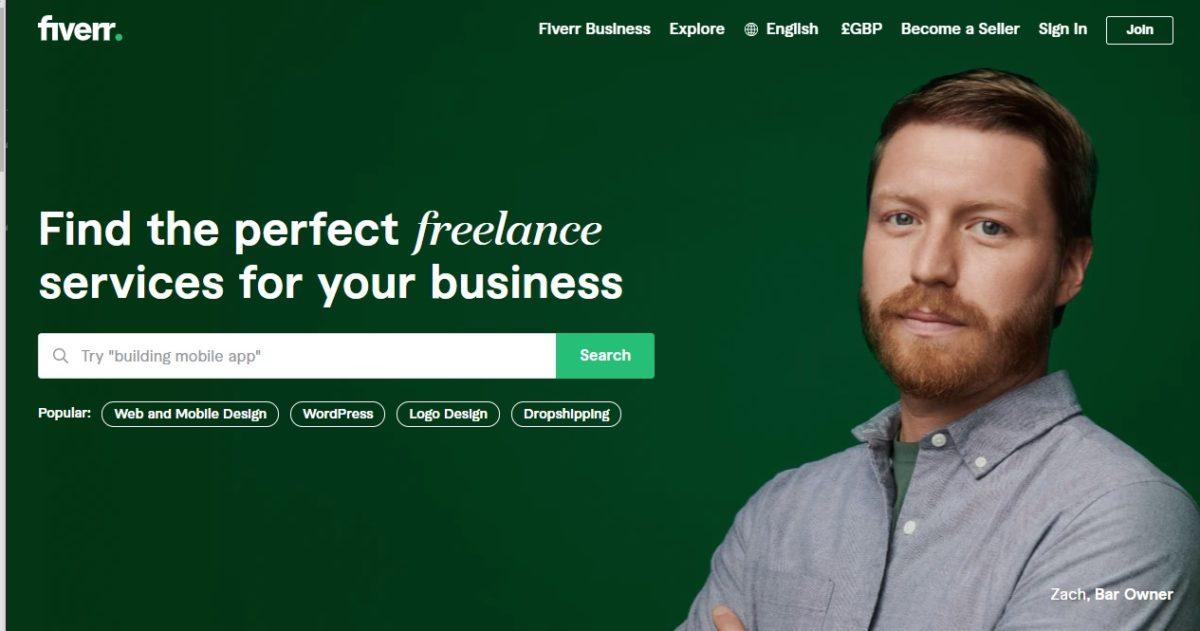 Найдите идеального фрилансера Fiverr