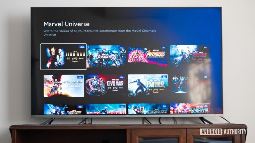 Mi QLED TV 4K showing collections in patchwall