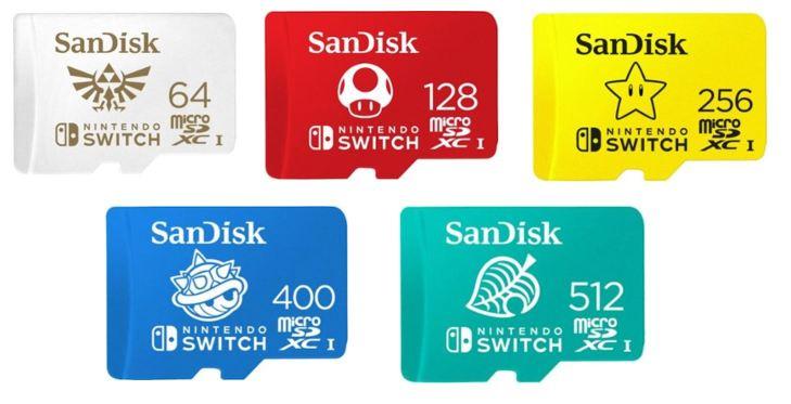SanDisk microSDXC Memory Cards for Nintendo Switch