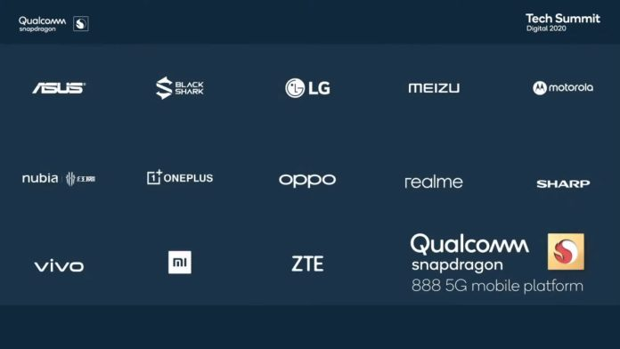 Snapdragon 888 official partners