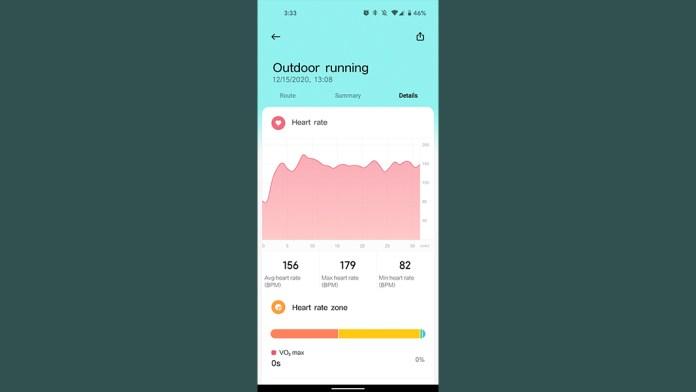xiaomi mi watch review heart rate sensor data