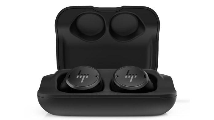 HP Elite Wireless Earbuds Front Inside Case