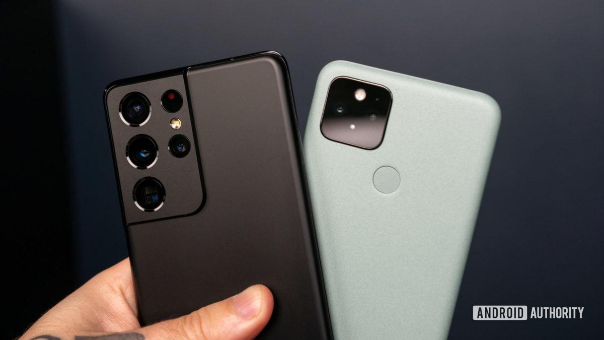Samsung Galaxy S21 Ultra против Google Pixel 5 1