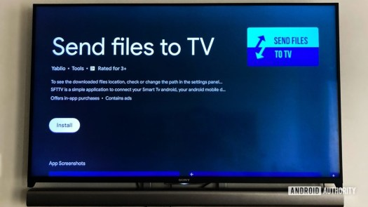 Send Files To TV app for Sideloading apps on Android TV