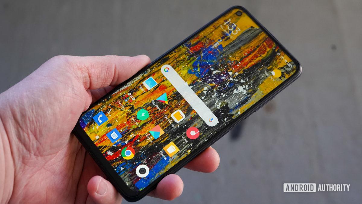 Xiaomi Redmi Note 9T perfil frontal direito