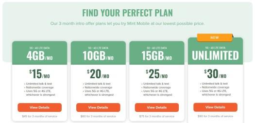 mint mobile plans 2021