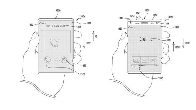Samsung patented sliding screen