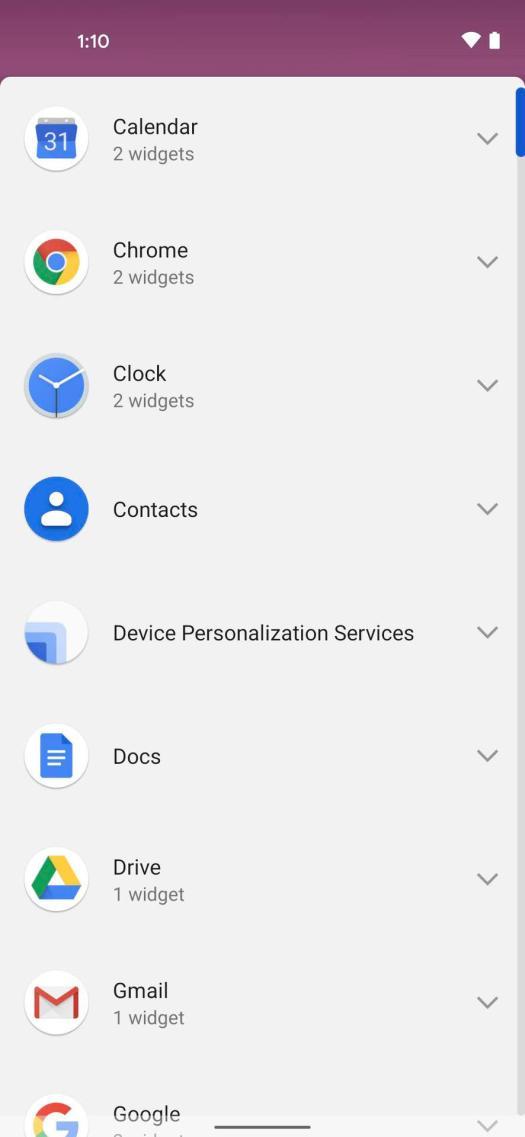 Android 12 Widget Organization 1