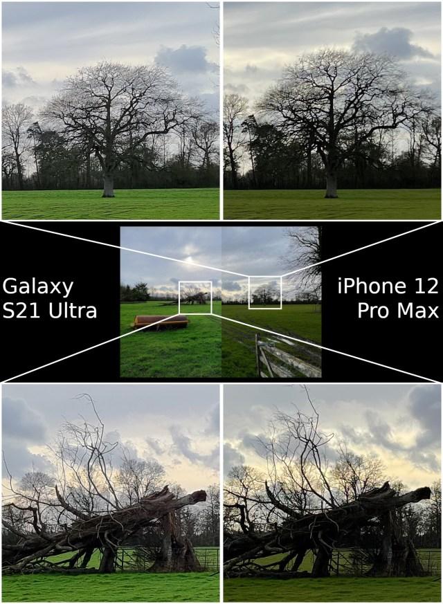 HDR Samsung Galaxy S21 Ultra vs Apple iPhone 12 Pro Max