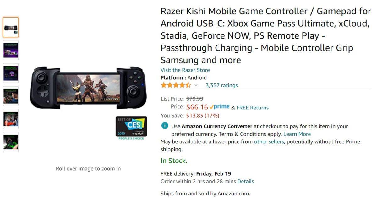 Oferta Razer Kishi Amazon