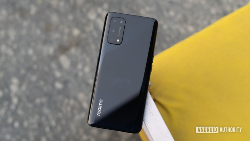 Realme X7 Pro 5G top shot showing back and camera