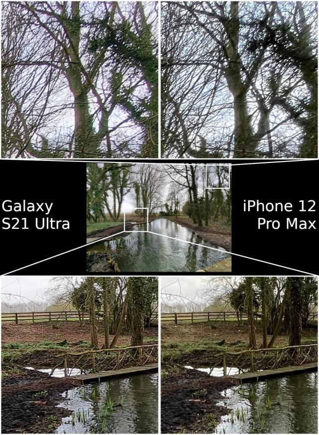 Wide Angle Samsung Galaxy S21 Ultra vs Apple iPhone 12 Pro Max