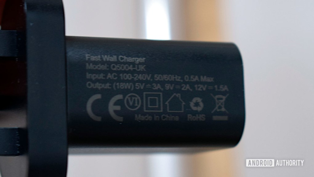 Choetech USB C charger 18W charger specs