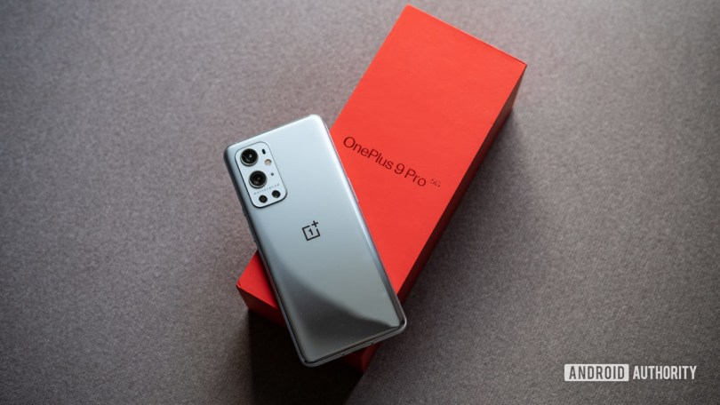 OnePlus 9 Pro review showing phone