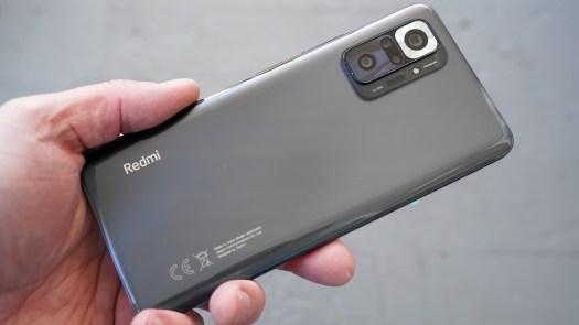 Redmi Note 10 Pro rear profile