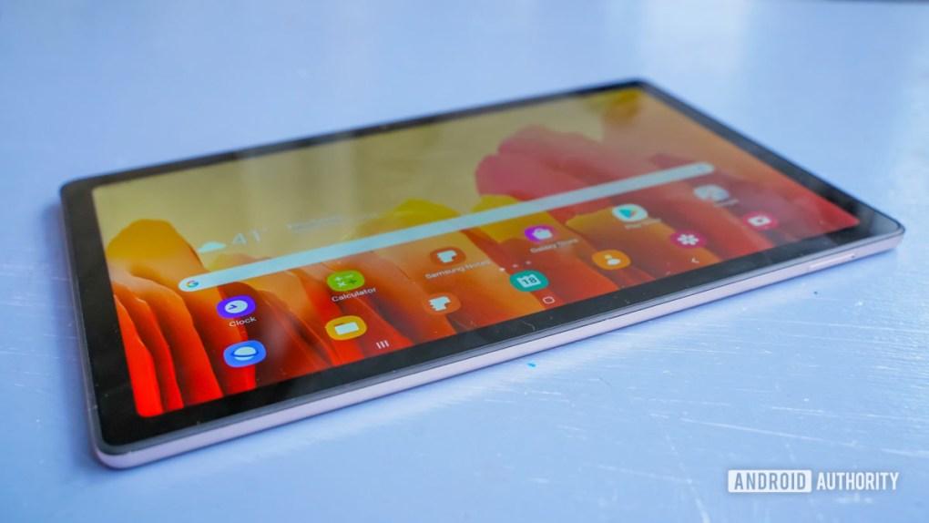 Samsung Galaxy Tab A7 laying down