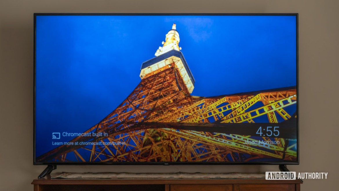 Xiaomi Redmi X65 TV review showing front panel