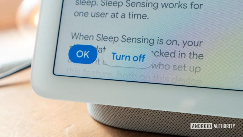 google nest hub second generation review sleep sensing turn off