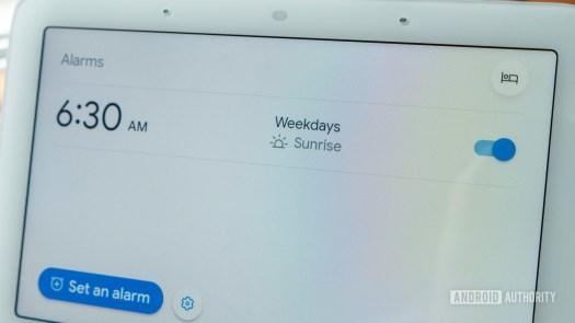 google nest hub second generation review sunrise alarm
