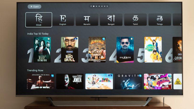 Mi QLED TV 75 patchwall languages