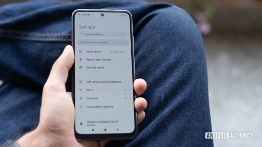 Redmi Note 10 review phone in hand