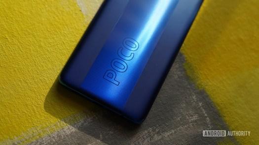 Poco X3 Pro focus on logo