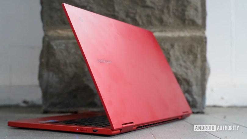 Samsung Galaxy Chromebook 2 rear profile