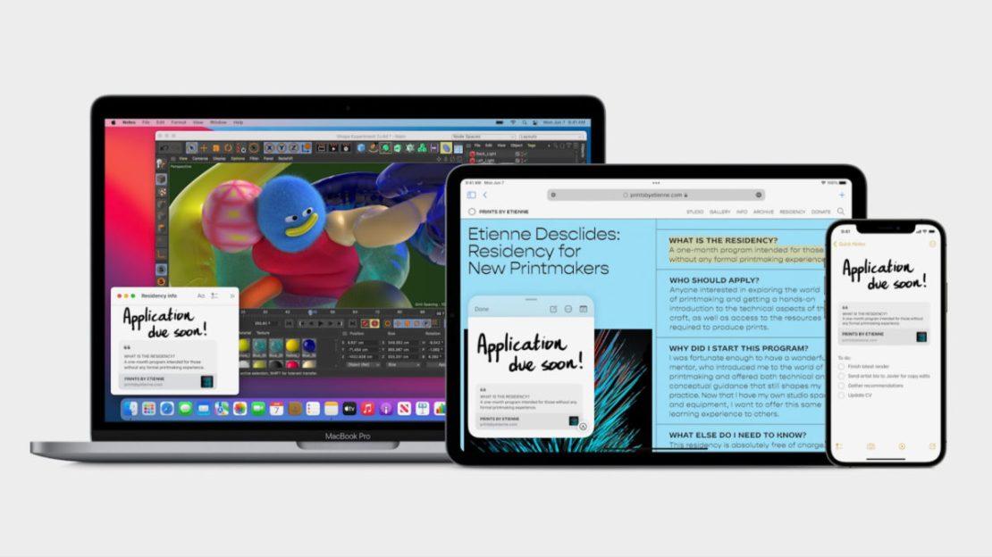 Apple iPadOS 15 Quick Note