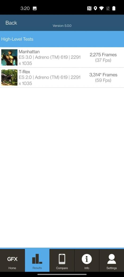 OnePlus Nord N200 5G GFX Bench