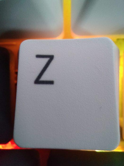 TCL 20 Pro 5G Camera 5MP Macro shot of the Z key on a keyboard.