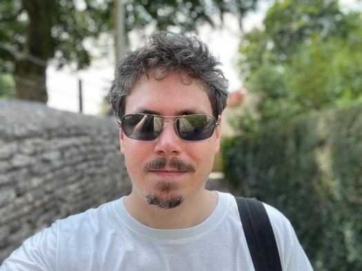 Selfie of bearded light skinned man shot on Apple iPhone 12 Pro Max