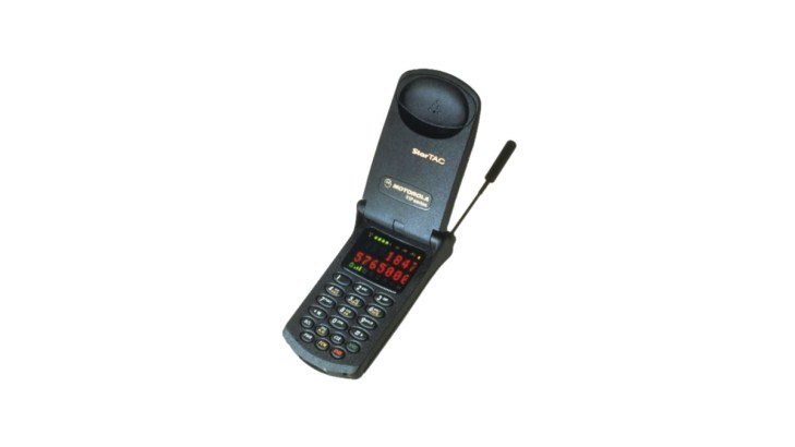 Motorola StarTAC Clamshell Phone, one of the most influential phones.