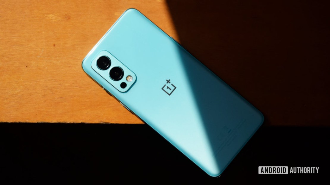 OnePlus Nord 2 5G lying on table face down