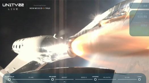Richard Branson Unity space flight