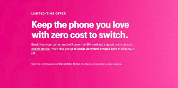 T-Mobile Switch Deal