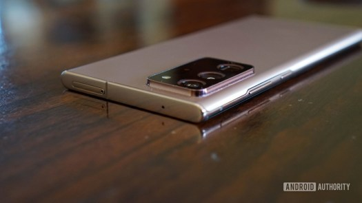 The Galaxy Note 20 Ultra camera bump.
