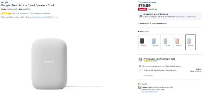 Google Nest Audio Best Buy Deal