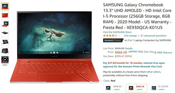 Sasmsung Galaxy Chromebook Amazon Deal