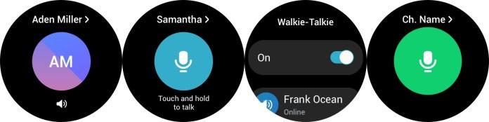 samsung walkietalkie app