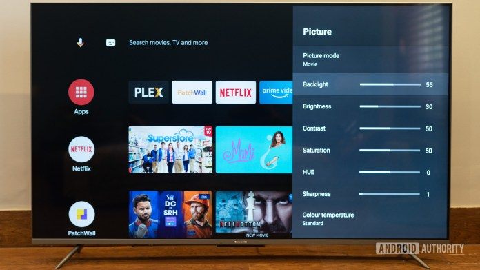 Mi TV 5x 55 inch review display modes and picture settings