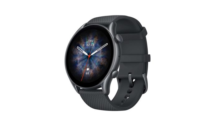 Product image of the new Amazfit GTR Pro 3 in Infinite Black.